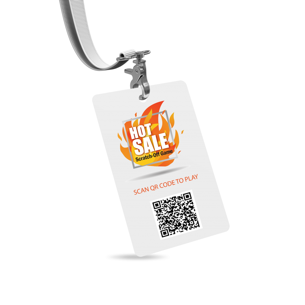 Have staff promote QR code on neck lanyards