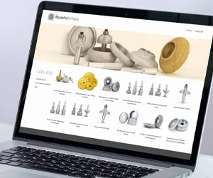graphic design for abrasive grinding wheel website