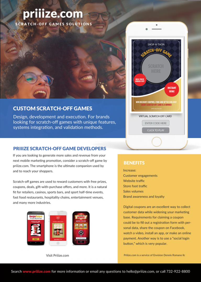 custom scratch-off games by envision - brochure download